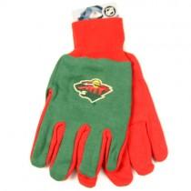Minnesota Wild Gloves - Green/Red 2Tone Grip Gloves $3.50 Per Pair