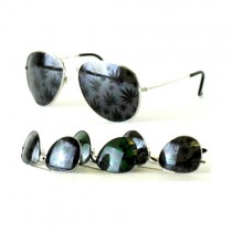 #MU110 - Aviator Style Full Leaf Sunglasses - 12 Pair For $24.00