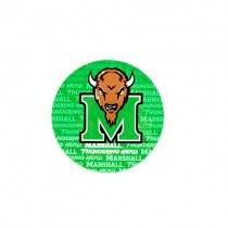 "Marshall University Magnets - 4"" Round Magnets - Wordmark Style - 12 For $12.00"