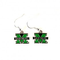 Marshall University Earrings - AMCO Series2 - Dangle Earrings - 12 Pair For $30.00