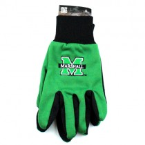 University Of Marshall Gloves - Black Palm Series - Grip Gloves - 12 Pair For $36.00