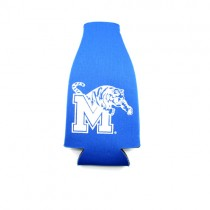 Memphis Tigers Bottle Huggie - Blue Neoprene Style - 12 For $12.00