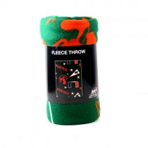 """Blowout - Miami Hurricanes Blanket - 40""""x50"""" Fleece - Mickey Mouse Style - 4 For $20.00"""