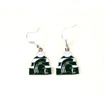 Michigan State Spartans Earrings - KNITSTER - Dangle Earrings - 12 Pair For $30.00