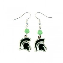 Michigan State Spartans Earrings - The SOPHIE Style Dangle - 12 Pair For $36.00