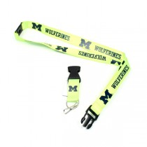 Michigan Wolverines Lanyards - Premium 2-Sided FULL Neon - 12 For $30.00