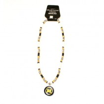 """Michigan Wolverines Necklace - 18"""" Natural Shell With Pendant - $7.50 Each"""