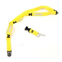Michigan Wolverines Lanyards -(Pattern May Be Different Than Pictured) - With Neck Release - $2.50 Each