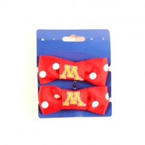 Special Buy - Minnesota Gophers - 2Pack Set Bow Style Ponies - 12 Sets For $18.00