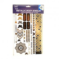 Opportunity Buy - Minnesota Gophers Tattoos - 2Pack Body Jewelry - 12 Sets For $12.00