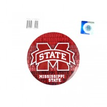 """Mississippi State Magnets - 4"""" Round Wordmark Style - 12 For $12.00"""