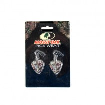 Mossy Oak - Camouflage Jewelry - 2Pack Guitar Pick Earring Set - 12 Sets For $30.00