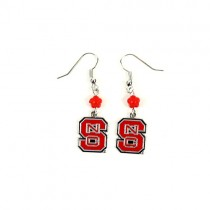 NC State Wolfpack Earrings - The SOPHIE Style Dangle - 12 For $36.00