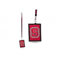 NC State Wolfpack Bling - Bling Lanyard With ID Holder - 12 For $30.00