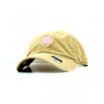 Notre Dame Caps - Khaki With Pink Patch Style - 2 Caps For $10.00