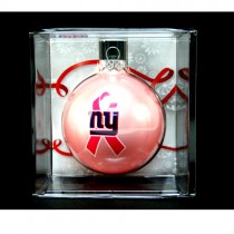 New York Giants Ornaments - PINK Ball Style - 12 For $30.00