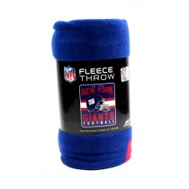 "Overstock - New York Giants Blankets - 50""x60"" Fleece - Repeater Style - 6 For $48.00"