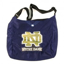 Overstock - Notre Dame Purses - (Slight Marking On Print) - Defective - ND Logo Larger Jersey Tote - 5 For $20.00