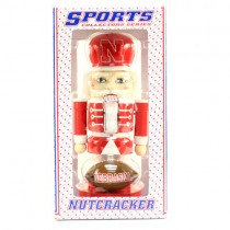 "Nebraska Huskers Nutcrackers - 9"" Poker Face Santa Style - 2 For $10.00"