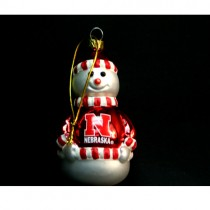 Nebraska Huskers Ornaments - BULK Packed - Snowman - 48 For $96.00