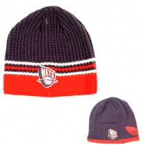 New Jersey Nets Beanies - Red.White.Blue Ribbed Reversible - Adidas Merchandise - 12 For $48.00