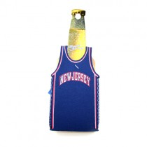 Closeout - New Jersey Nets Bottle Huggies - Blue Jersey Style Huggies - 24 For $12.00