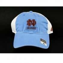 Notre Dame Caps - Blue Cap With White Siding - Womens Style - 2 Caps For $10.00