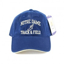University Of Notre Dame Caps - Blue Hat With Track & Field Logo - 2 For $10.00
