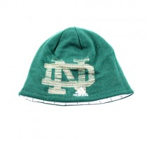 University Of Notre Dame Knits - Green Knit With Big ND Logo - Adidas - 2 For $12.00