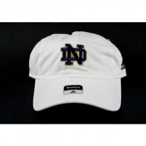 Notre Dame Hats - Classic White Womens Cap ND Logo - 2 For $10.00