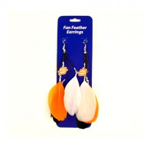 Oklahoma State Earrings - Dangle Feather Style - $2.75 Per Pair
