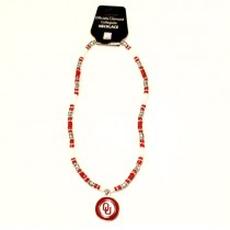 """Oklahoma Sooners Necklaces - 18"""" Natural Stone - 12 Necklaces For $78.00"""