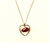 Ohio State Football - Heart Shaped Football Insert Necklace - 12 For $42.00