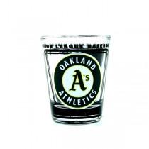 Oakland Athletics Shot Glasses - Hi-Def Style - Classic Shotglasses - 12 For $30.00