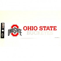 "Ohio State Buckeyes - 3""x12"" Fan Zone Bumper Stickers - 12 For $15.00"