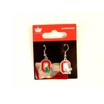 Style Change - Ohio State Buckeyes Earrings - MINX Style Dangle - 12 Pair For $30.00