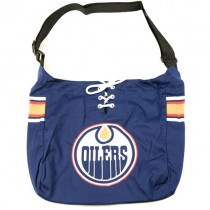 "Closeout NHL Merchandise - Edmonton Oilers Hockey - ""The Laces"" Wholesale Purses - 3 For $20.00"