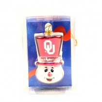 Oklahoma Sooners Ornaments - Top Hat Snowman Style - 12 For $30.00