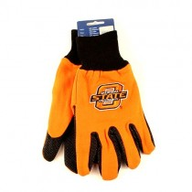 Oklahoma State Gloves - O LOGO - Orange.Black 2Tone Gloves - 24 Pair For $78.00