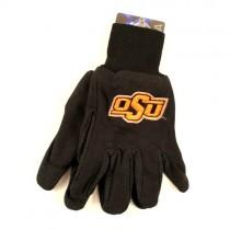 Oklahoma State Gloves - Black.Orange - OSU Text With Lines Logo - $3.50 Per Pair