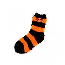 Oklahoma State Cowboys Socks - Striped Fuzzy Series - 12 For $36.00