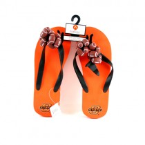 Oklahoma State Flip Flops - Size 10-11 Football Style - 12 Pair For $12.00
