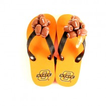 Oklahoma State - Wholesale Sandals - YOUTH Assorted Sizes - 12 Pair For $36.00