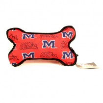 Ole Miss Merchandise - The Squeaker BONE Dog Toy - 12 For $54.00