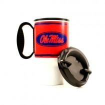 Ole Miss Mugs - Handled 2Tone Plastic Travel Mugs - SOP - $5.00 Each