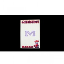 "Ole Miss Notepads - 5""x8"" - 40 Sheets Per Pad - 24 Pads For $12.00"