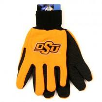 Oklahoma State Gloves - OSU Style - 2Tone Black/Orange NCAA Gloves $3.50 Per Pair