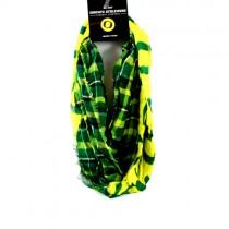 Oregon Ducks Scarves - Tartan Style Infinity Scarves - 12 For $60.00