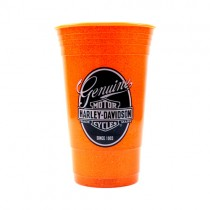 Harley Davidson Tumblers - 16OZ Orange Glitter Since 1903 Style - 2 Tumblers For $10.00