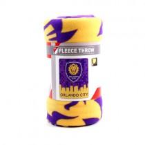 """Orlando City FC Blanket - 50""""x60"""" Fleece - Skyline Style - $9.50 Each"""